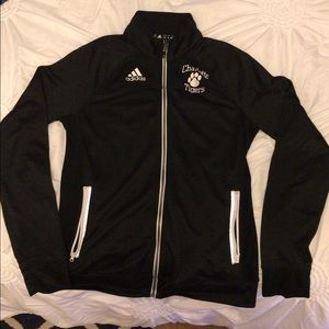 ADIDAS black Charlotte Tigers zip-up jacket